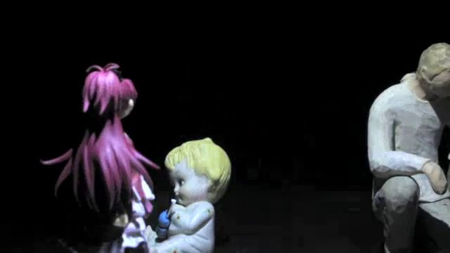 """Kyouko Plays Slender"" -  (stop-anime) -creepy"
