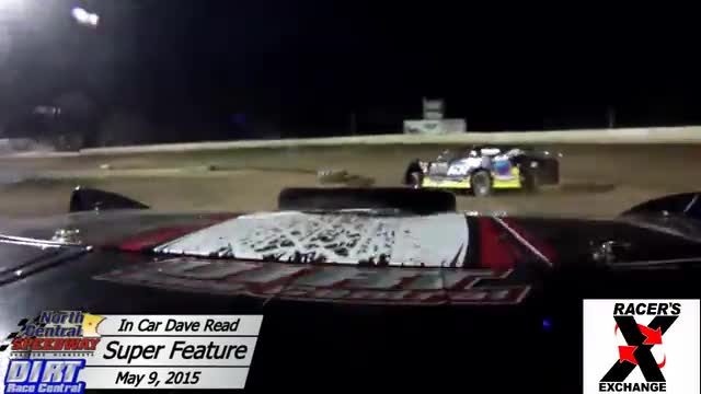In Car Dave Read May 9, 2015 North Central Speedway Super Stock Heat & Feature