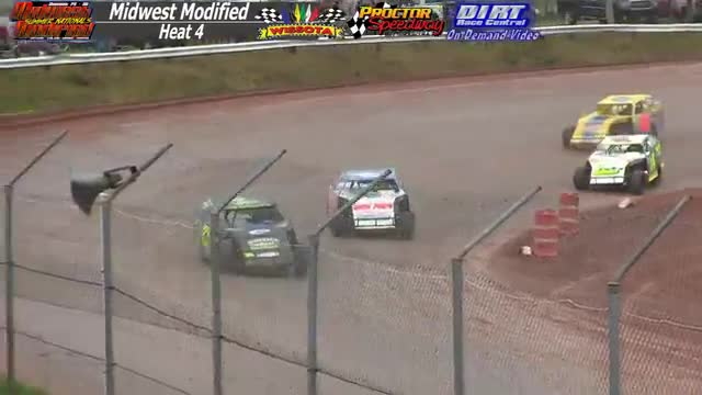Proctor Speedway August 16, 2015 WISSOTA Midwest Modified Heat Races