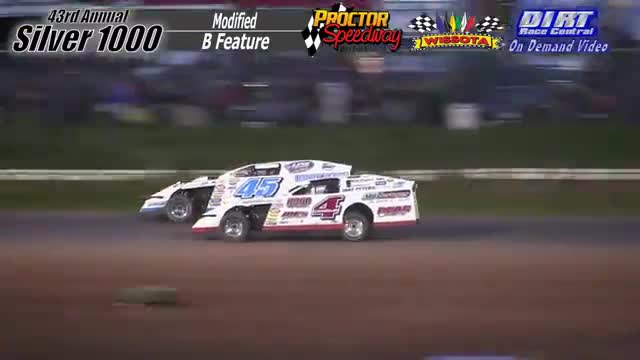 Proctor Speedway September 3, 2015 Silver 1000 Modified B Feature Race
