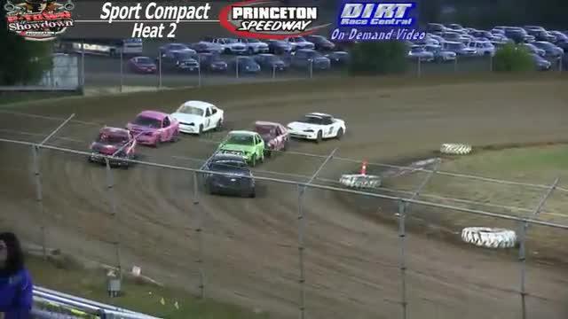 Princeton Speedway September 26, 2015 IMCA Sport Compact Heat Races