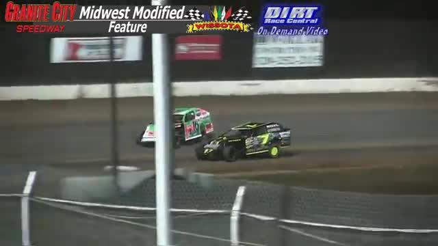 Granite City Speedway October 2, 2015 WISSOTA Midwest Modified Feature Race