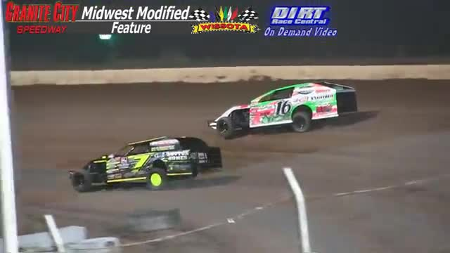 Granite City Speedway October 3, 2015 WISSOTA Midwest Modified Feature Race