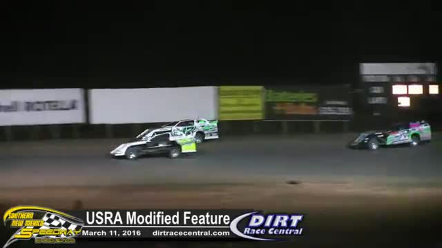 Southern New Mexico Speedway 3/11/16 USRA Modified Feature