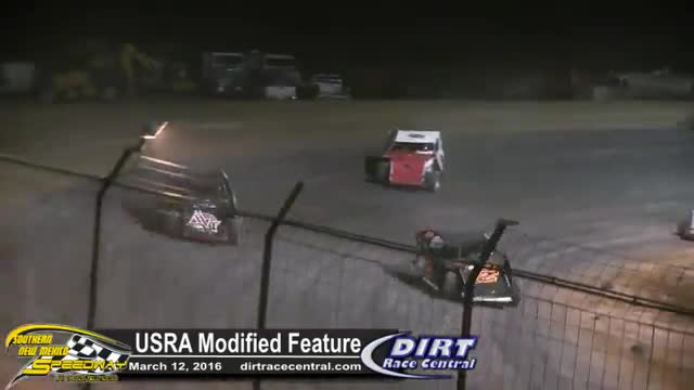 Southern New  Meixco Speedway 3/12/16 USRA Modified Feature