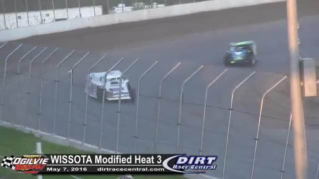 Ogilvie Raceway 5/7/16 WISSOTA Modified Races