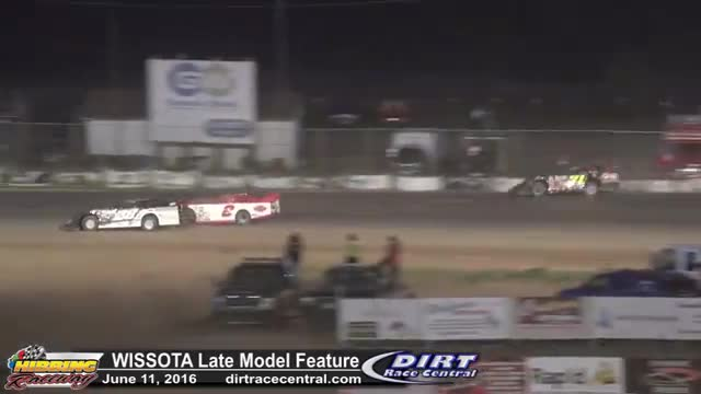 Hibbing Raceway 6/10/16 WISSOTA Late Model Feature Race