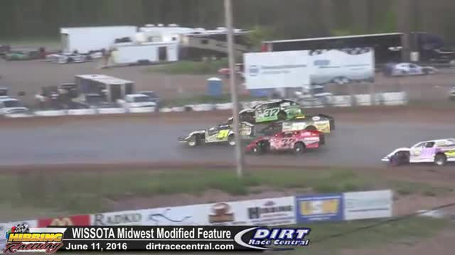 Hibbing Raceway 6/10/16 WISSOTA Midwest Modified Feature Race