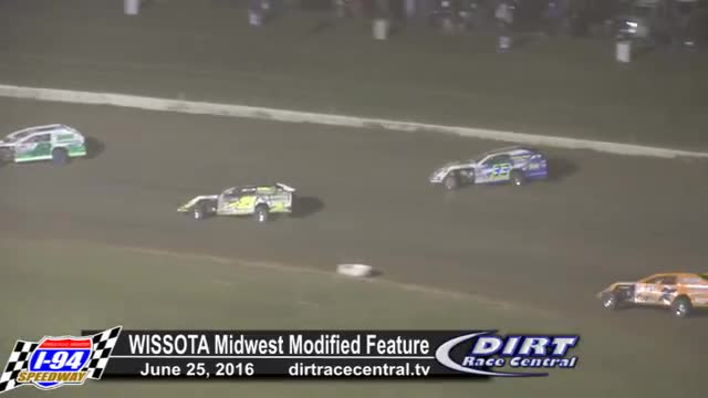 I-94 Speedway 6/25/16 WISSOTA Midwest Modified Feature Race