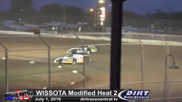Amsoil Speedway 7/1/16 WISSOTA Modified Heat 2