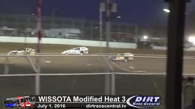 Amsoil Speedway 7/1/16 WISSOTA Modified Heat Race 3
