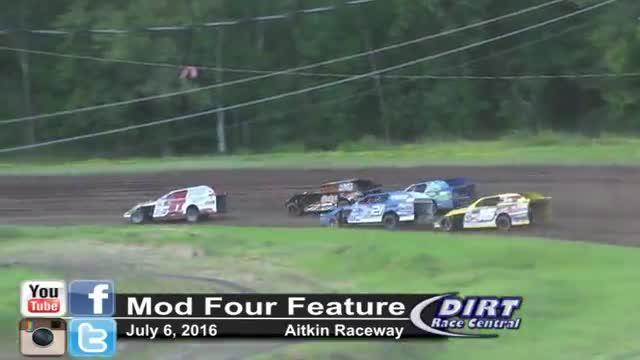 Aitkin Raceway 7/8/16 Mod Four Races