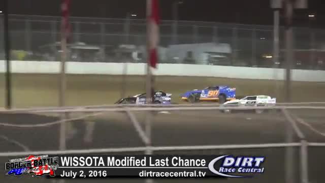 Amsoil Speedway 7/2/16 WISSOTA Modified Last Chance Race