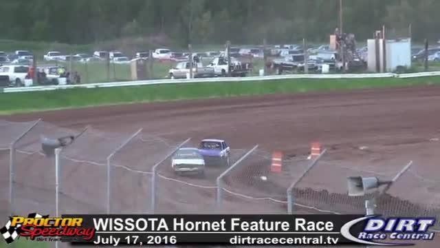 Proctor Speedway 7/17/16 WISSOTA Hornet Feature Race