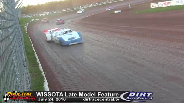 Proctor Speedway 7/24/16 WISSOTA Late Model Feature Race