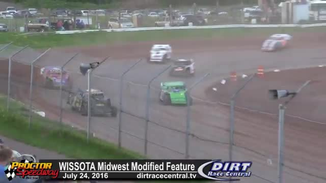 Proctor Speedway 7/24/16 WISSOTA Midwest Modified Feature Race