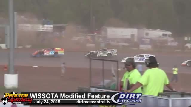 Proctor Speedway 7/24/16 WISSOTA Modified Feature Race