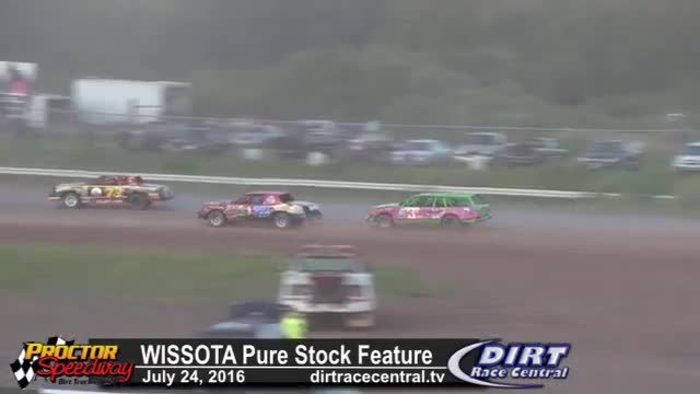 Proctor Speedway 7/24/16 WISSOTA Pure Stock Feature Race