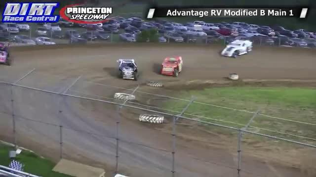 Princeton Speedway 6/20/14 Advantage RV Mod Tour B Main Races
