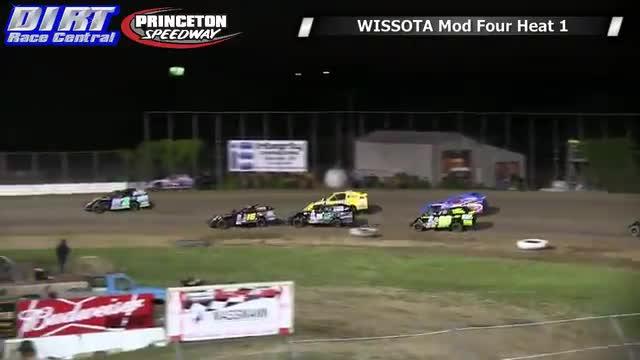 Princeton Speedway 6/20/14 WISSOTA Mod Four Races