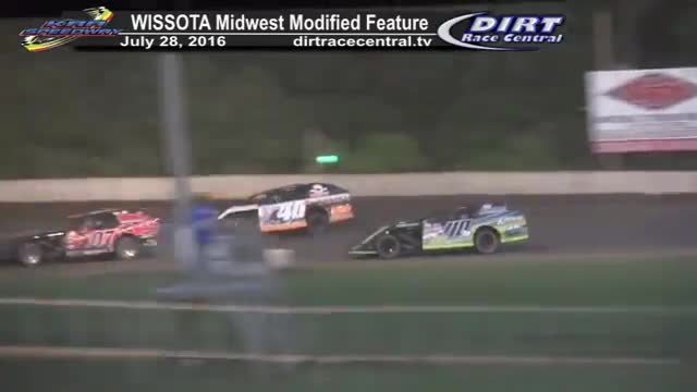 KRA Speedway 7/28/16 WISSOTA Midwest Modified Feature Race