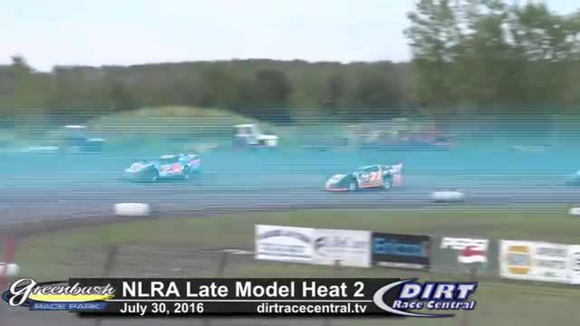 Greenbush Race Park 7/30/16 NLRA Late Model Heat Races