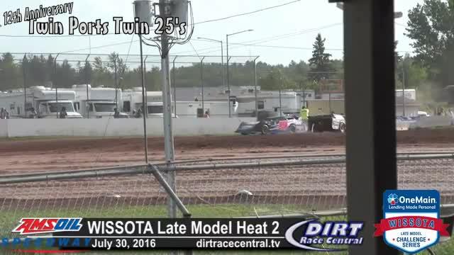 Amsoil Speedway 7/31/16 WISSOTA Late Model Heat Race