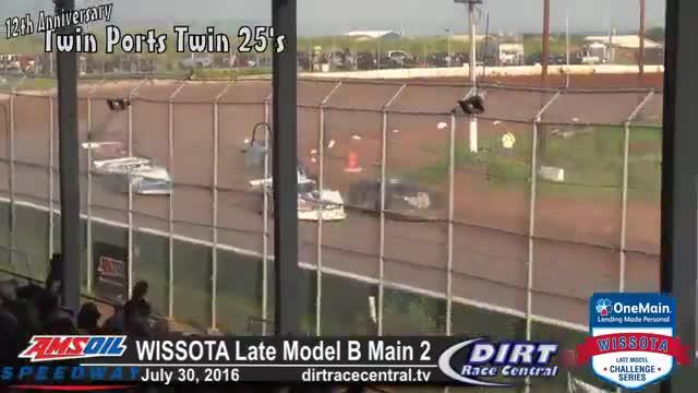 Amsoil Speedway 7/31/16 WISSOTA Late Model B Mains