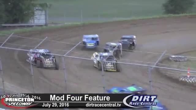 Princeton Speedway 7/29/16 Mod Four Races