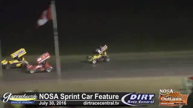 Greenbush Race Park 7/30/16 NOSA Sprint Car Feature Race