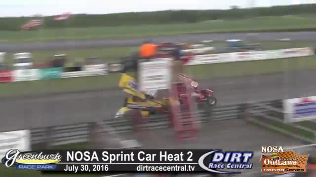 Greenbush Race Park 7/30/16 NOSA Sprint Car Heat Races