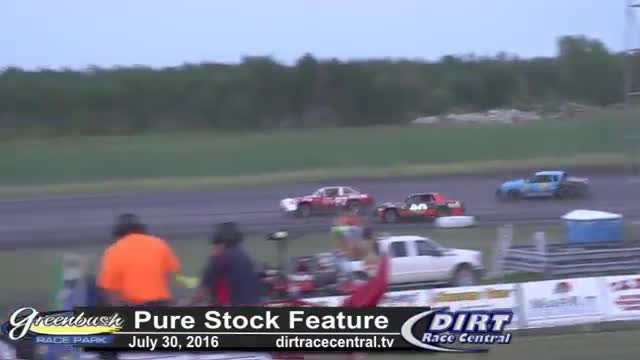 Greenbush Race Park 7/30/16 Pure Stock Feature Race