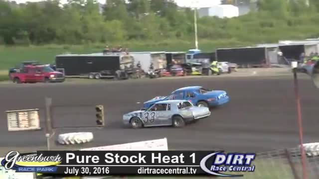Greenbush Race Park 7/30/16 Pure Stock Heat Races