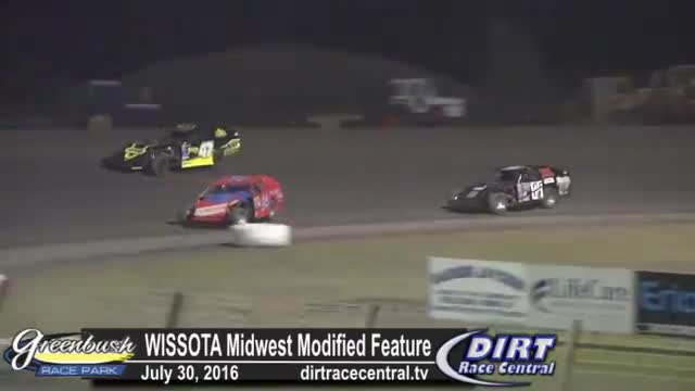 Greenbush Race Park 7/30/16 WISSOTA Midwest Modified Feature Race