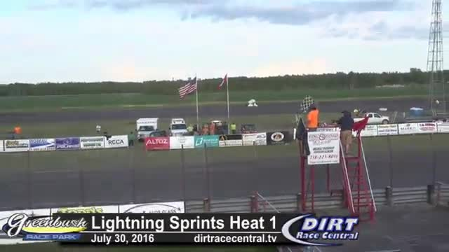 Greenbush Race Park 7/30/16 Lightning Sprint Car Heat Races
