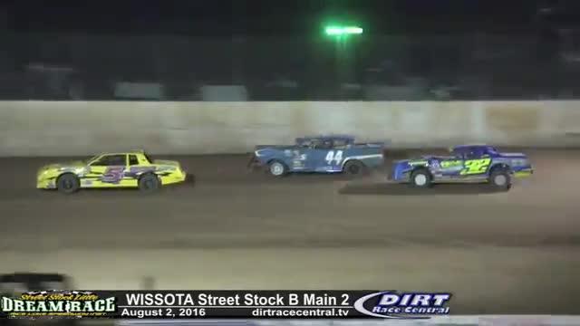 Rice Lake Speedway 8/2/16 WISSOTA Street Stock B Main Races