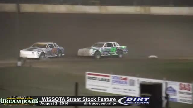 Rice Lake Speedway 8/2/16 WISSOTA Street Stock Feature Race