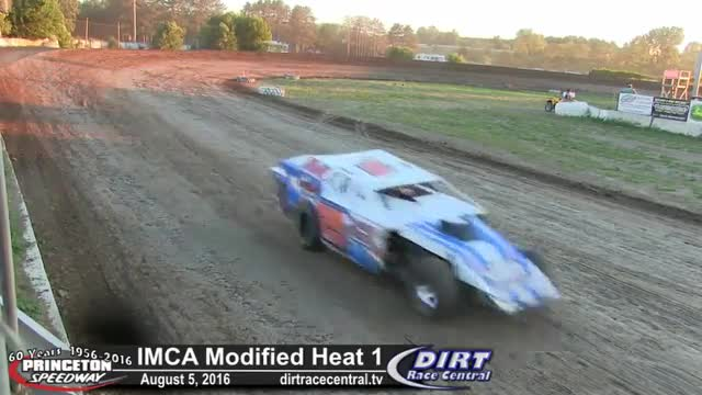 Princeton Speedway 8/5/16 IMCA Modified Heat Races