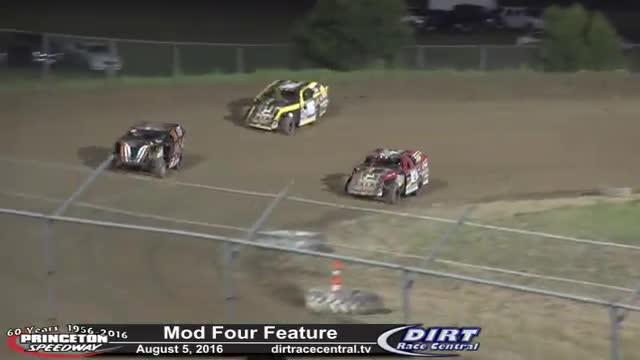 Princeton Speedway 8/5/16 Mod Four Races