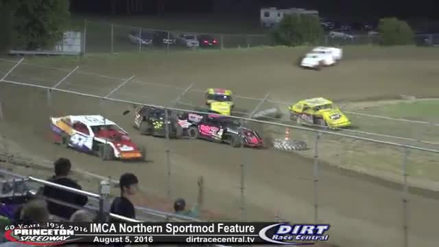 Princeton Speedway 8/5/16 IMCA Northern Sportmod Feature Race