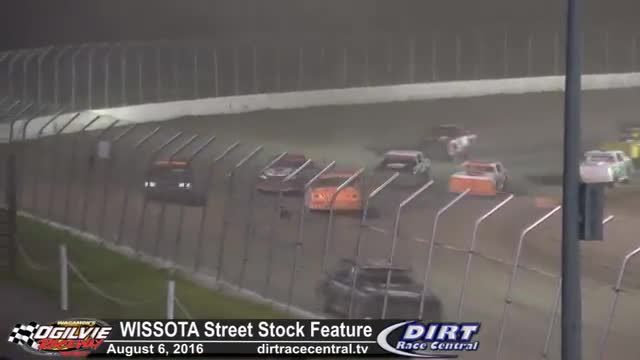 Ogilvie Raceway 8/6/16 WISSOTA Street Stock Feature Race