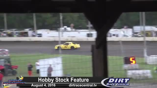 KRA Speedway 8/4/16 Hobby Stock Feature Race