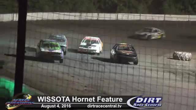 KRA Speedway 8/4/16 WISSOTA Hornet Feature Race
