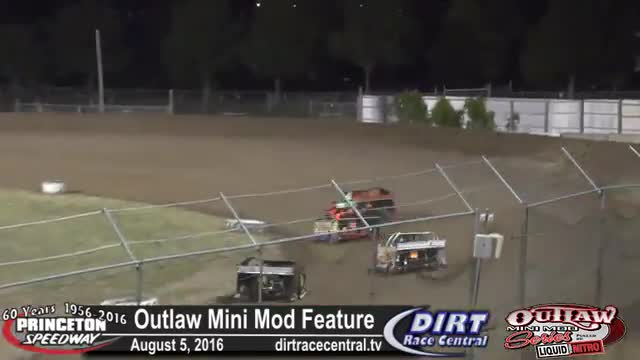 Princeton Speedway 8/5/16 Outlaw Mini Mod Feature Race