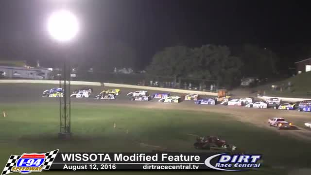 I-94 Speedway 8/12/16 WISSOTA Modified Races