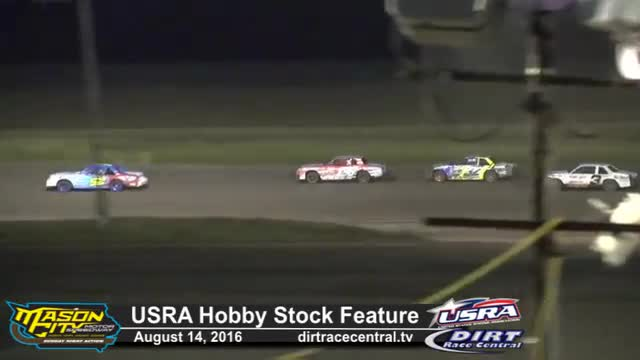 Mason City Motor Speedway 8/14/16 USRA Hobby Stock Races