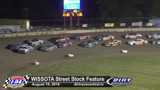 I-94 Speedway 8/19/16 WISSOTA Street Stock Races