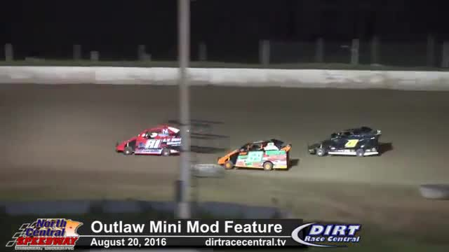 North Central Speedway 8/20/16 Outlaw Mini Mod Races