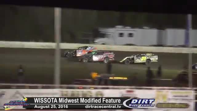 KRA Speedway 8/25/16 WISSOTA Midwest Modified Races