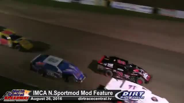 North Central Speedway 8/26/16 IMCA Northern Sportmod Feature Race